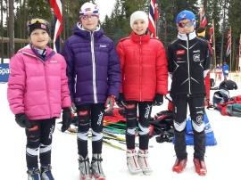 Amalie, Victoria, Maja og Eirik