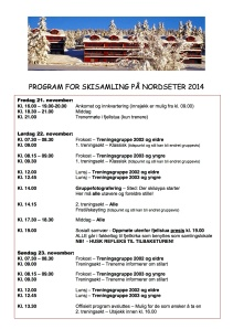 Program for Nordseter 2013