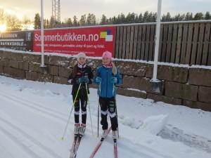 Maja og Victoria på Bergerbanen.