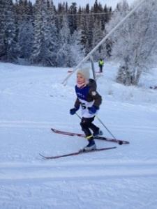 Aase Strøm i Julegranrennet 2014