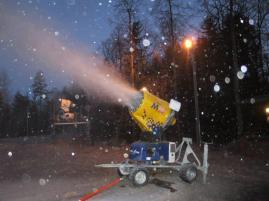Snøproduksjon på Berger 17. desember 2014