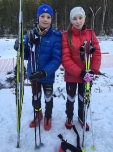 Eirik Enbusk og Maja Ellefsrud under Heddalsprinten 2015.