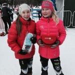 Victoria og Maja etter rennet.
