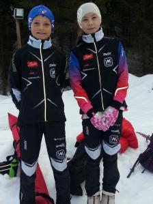 Eirik og Maja på Hakadalsrennet.