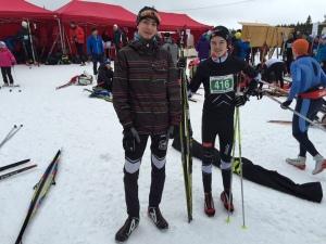 Jacob og Vemund før start i Montebellorennet 2015