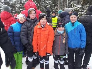 Kasper Kjær Jørgensen,  Gaute ogTrygve Lien Kjølseth,  Johanne og Henrik Anker-Nilssen under Lommedalsrennet 2016.