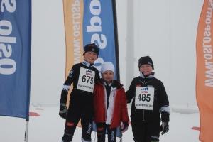 Arnt, Aase og Sander under Oslo skifestival