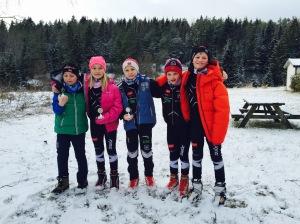 Fem deltakere fra Nesodden.