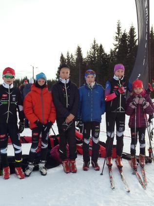 Daniel, Arnt August, Mads, Eirik, Maja og Aase