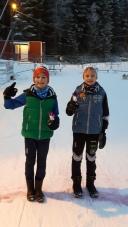 Fornøyde gutter etter Hakadalsrennet 2016