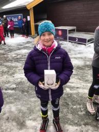 Amalie på Nyttårsrennet på Beitostølen