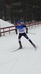 Eirik under KM i fristil søndag