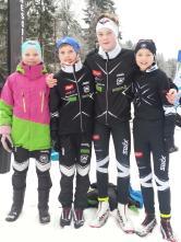 Sofie, Eirik, Gaute og Kasper
