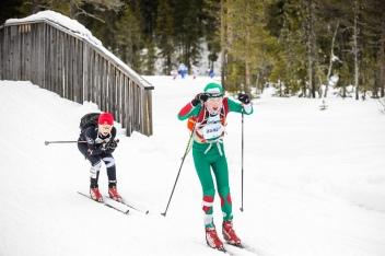 Daniel med gode ski