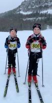 Emma og Milla før start i Vestmarka Rett Ned