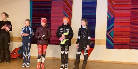 Mia og Aase 1.og 2. plass i Jardarsprinten